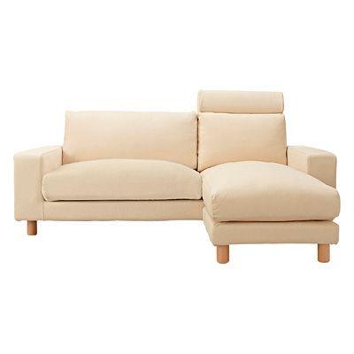 ソファ本体・ワイドアーム・カウチタイプ・羽根ポケットコイルクッション(木製脚付) アパート Sofa