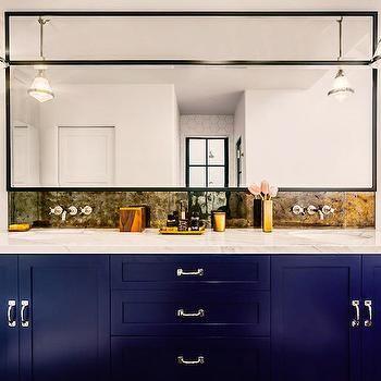 Cobalt Blue Vanity | Bathroom vanity decor, Blue bathroom ...
