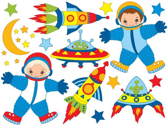 space clipart digital vector rocket space alien moon star rh pinterest co uk space clip art kids space clipart download free