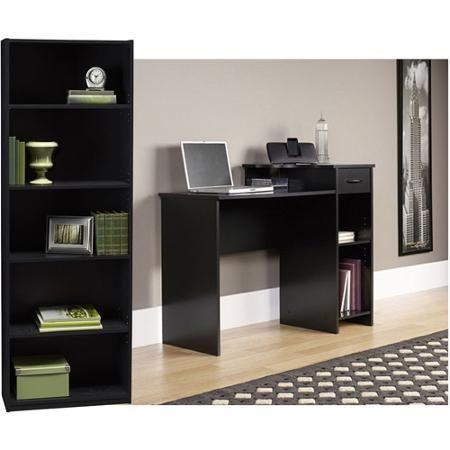 student desk and 5 shelf bookcase value bundle walmart com new rh pinterest co uk study desk walmart canada study desk walmart canada