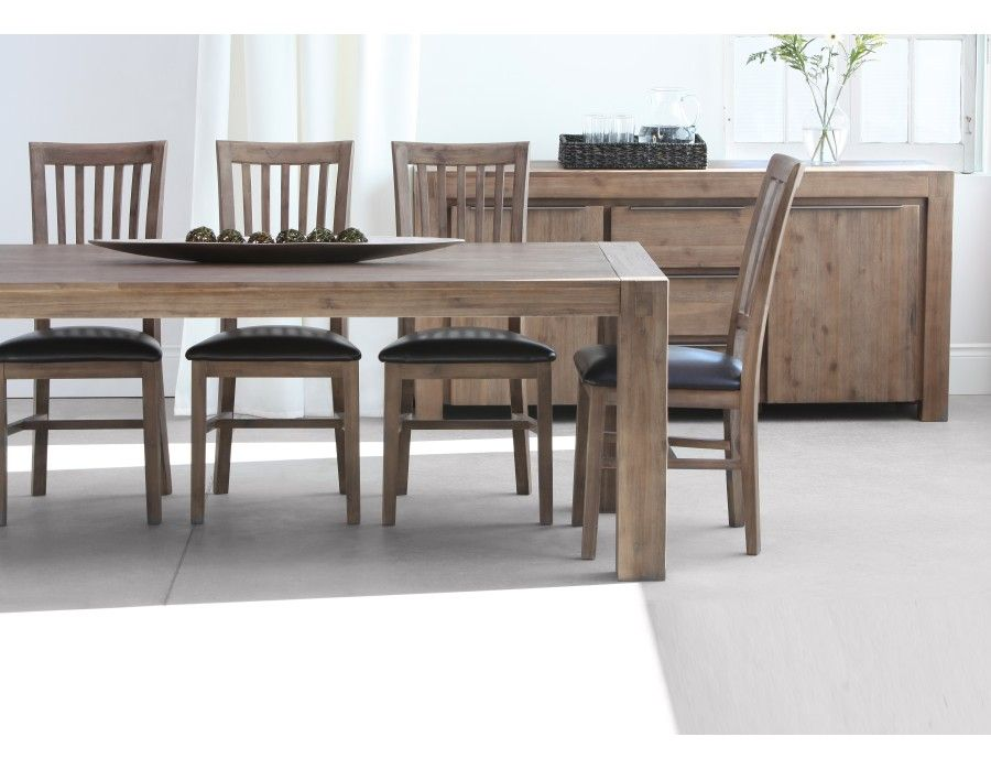 Hamburg Acacia Wood Dining Table 79 Grey