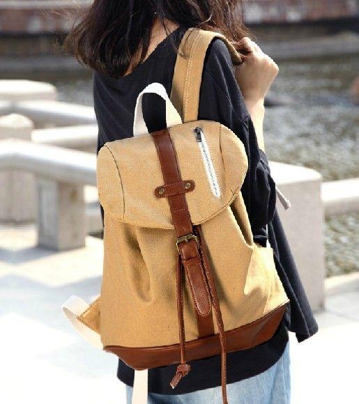 girls canvas rucksack backpack | Backpack Style | Pinterest ...