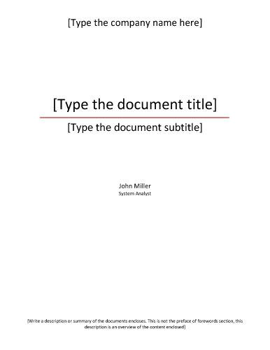Formal-title-page-template tpaul Pinterest Template, Formal - formal report template word