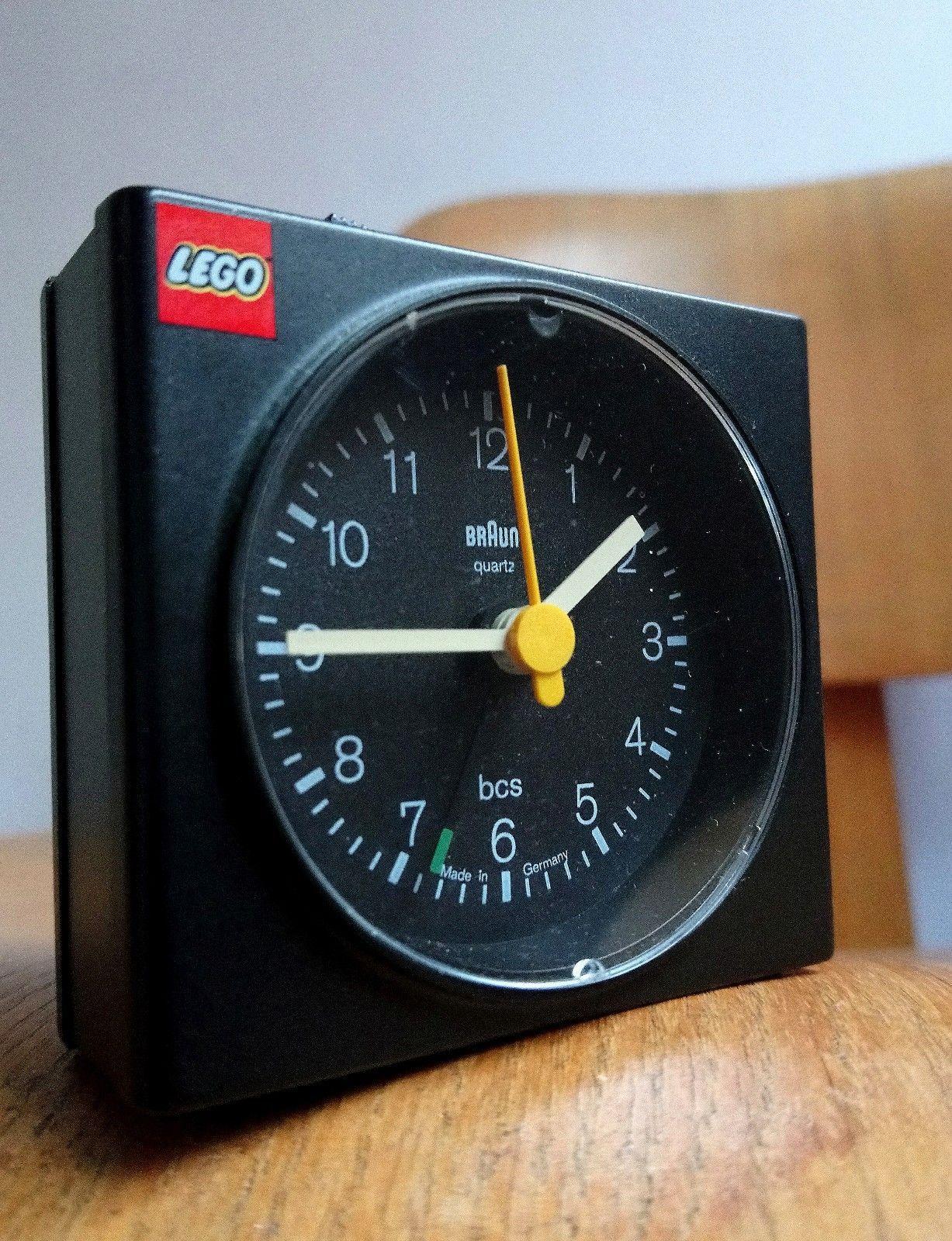 Rare Braun Ab 7 Quartz Alarm Clock For Lego Lubs Dieter Rams Modernist Design Ebay Lego Design