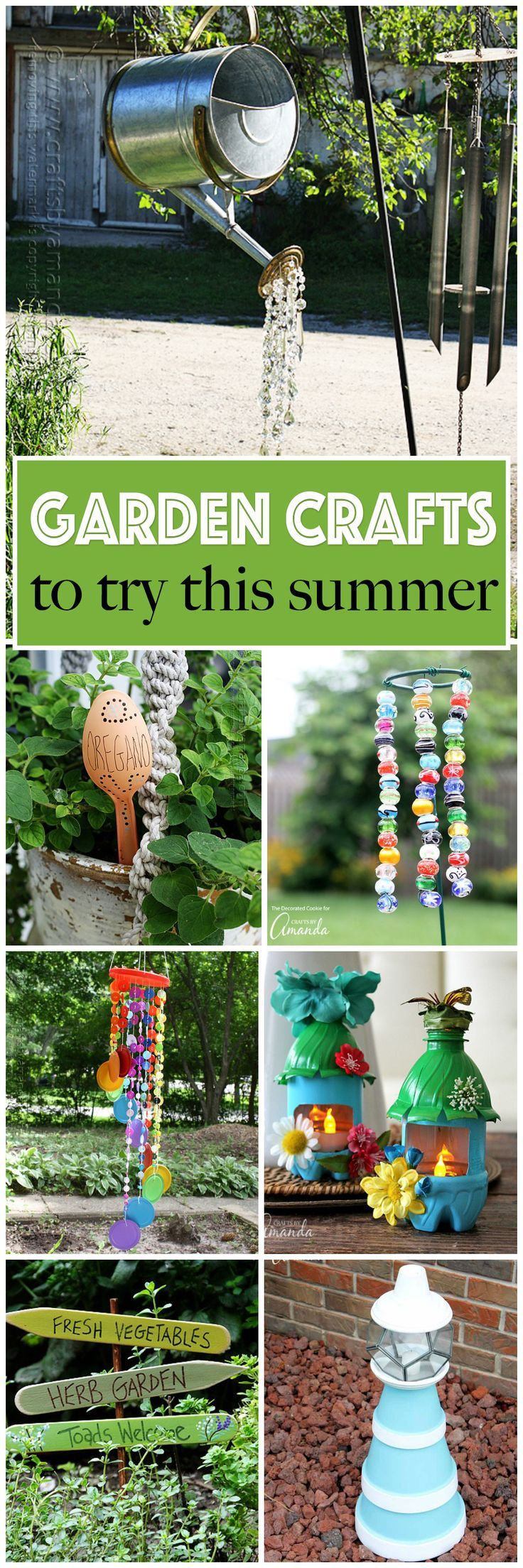 Garden decor crafts  Lots of garden crafts that you can make Create your own garden