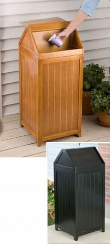 Rustic Trash Can Trash Bin Garbage Can Wood Trash Can Rustic Home Decor Rustic Kitchen Decor Rustic Kitchen Trash Cans Rustic Kitchen Decor Kitchen Decor