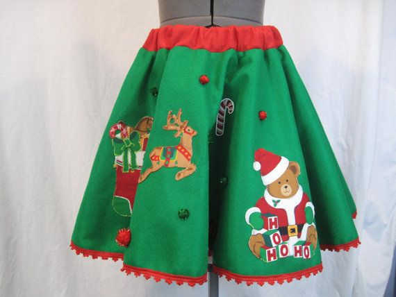 Ugly Tacky Christmas Sweater Party Mini Skirt by DicardomyHoliday