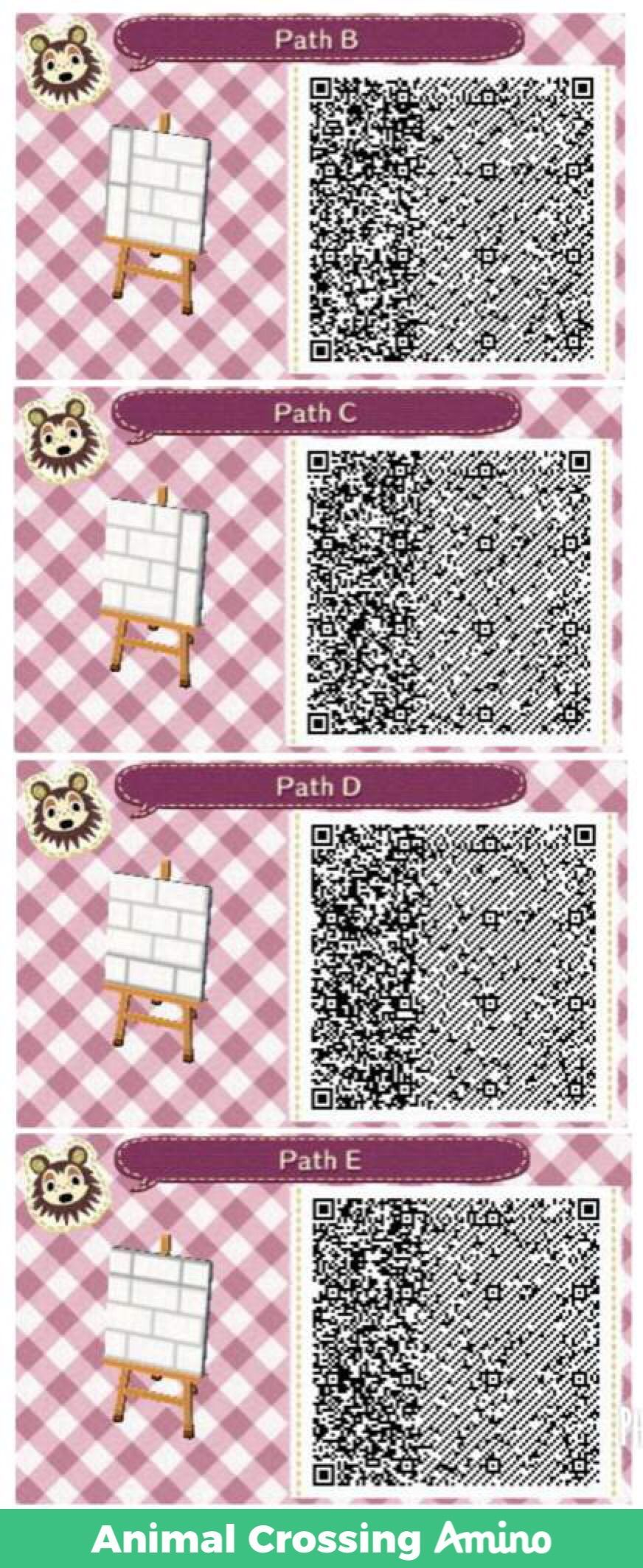 White Path Qr Acnl Acnh Qr Codes Animal Crossing Animal Crossing Qr Acnl Paths