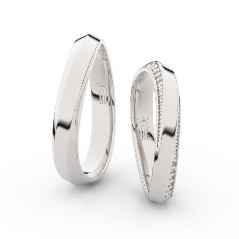 Snubni Prsteny Z Bileho Zlatas Brilianty Elegantni Snubni Prsteny Z