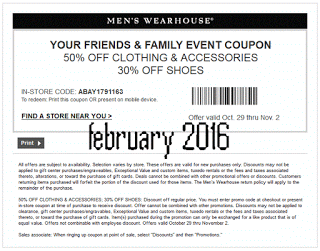 photograph relating to Mens Wearhouse Coupon Printable identified as Pin upon very hot coupon codes february 2016