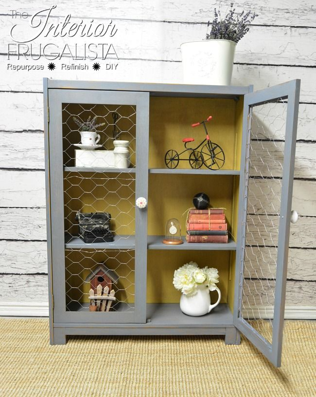 How To Transform A Vintage Bookcase Into A Farmhouse Cupboard ...