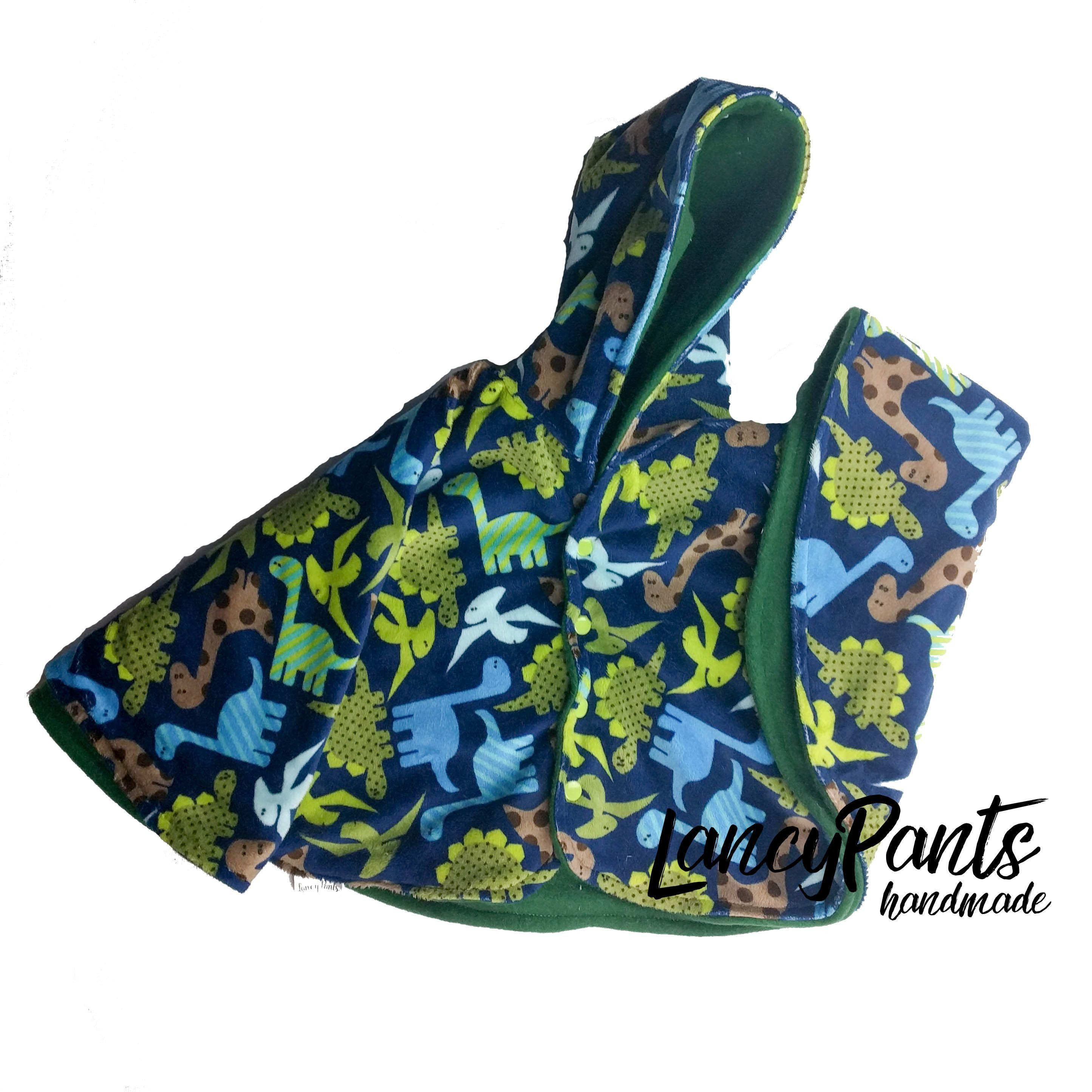 Made to order dinosaur cuddle minky fleece car seat poncho - winter ...