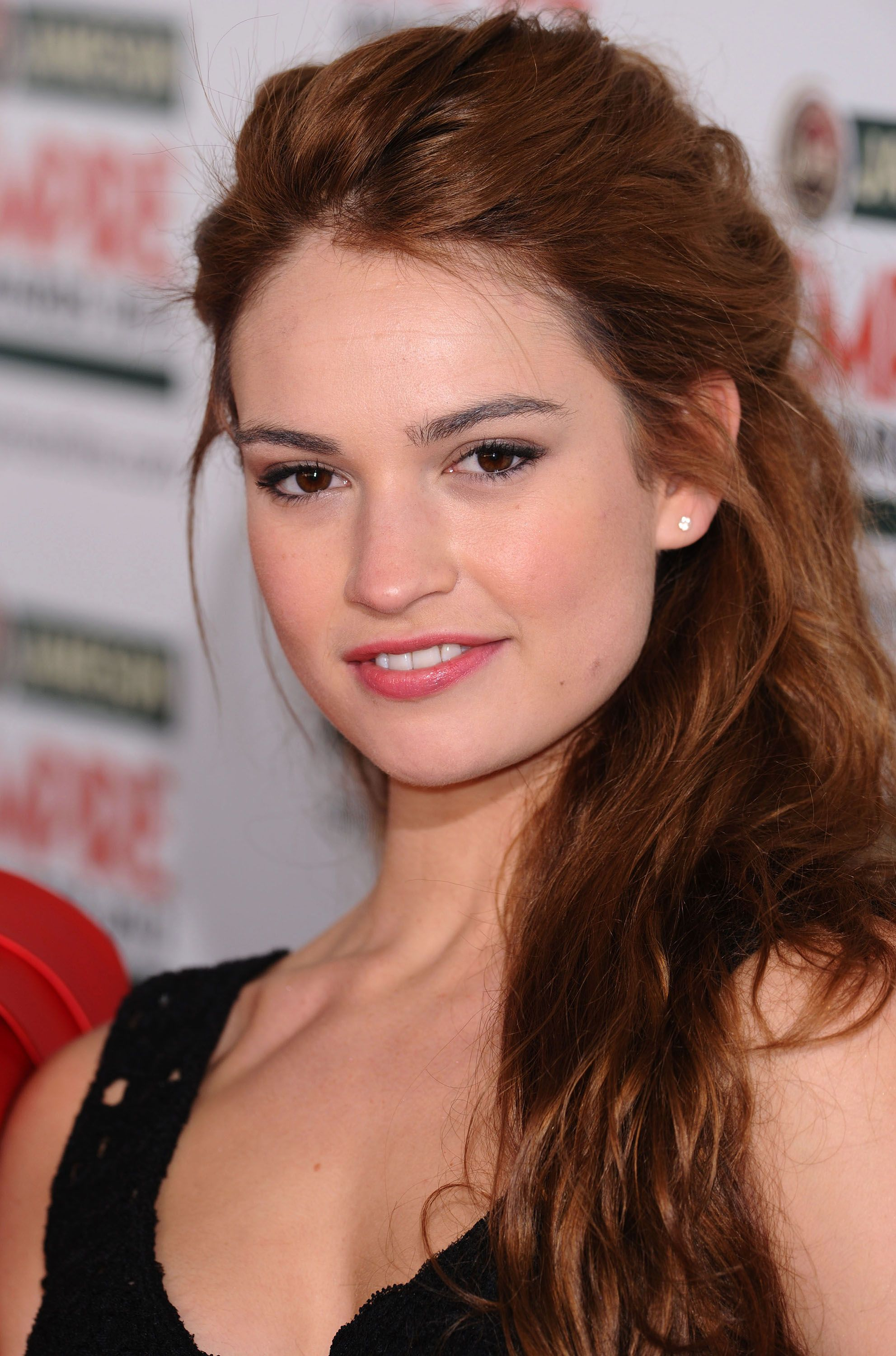 Lily James in 2012.