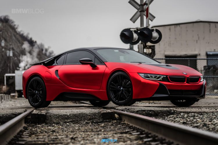 Bmw I8 Frozen Red Satin Conform Chrome 15 Bmw Pinterest Bmw