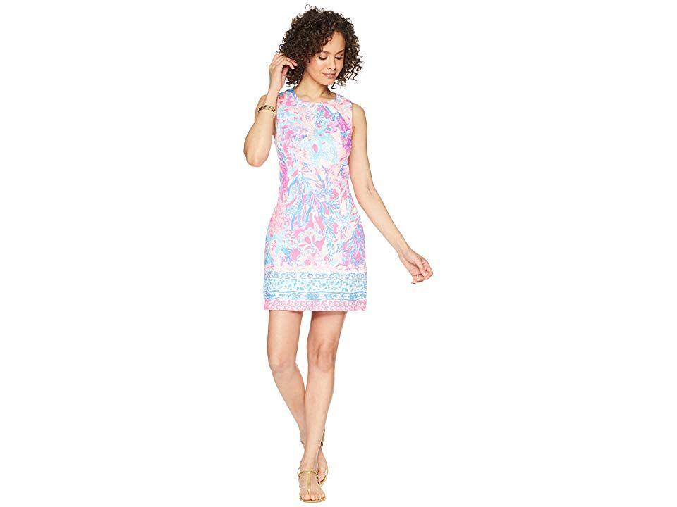 LILLY PULITZER MILA SHIFT DRESS Light Pascha Pink Aquadesiac Engineered