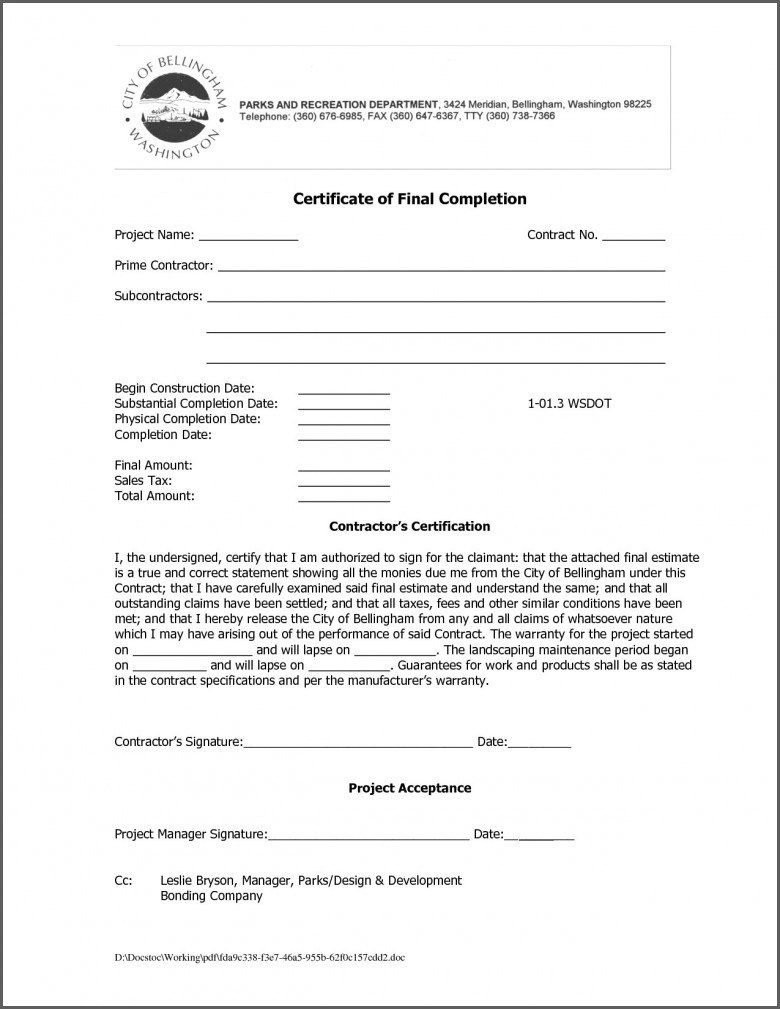 Certificate Of Completion Template Construction Toha Pertaining To Constructi Certificate Of Completion Template Certificate Of Completion Certificate Template