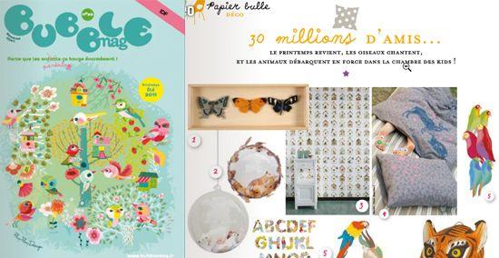 M&G's dans le magazine Bubble mag. Création Marion Gaillien pour la décoration enfantine.