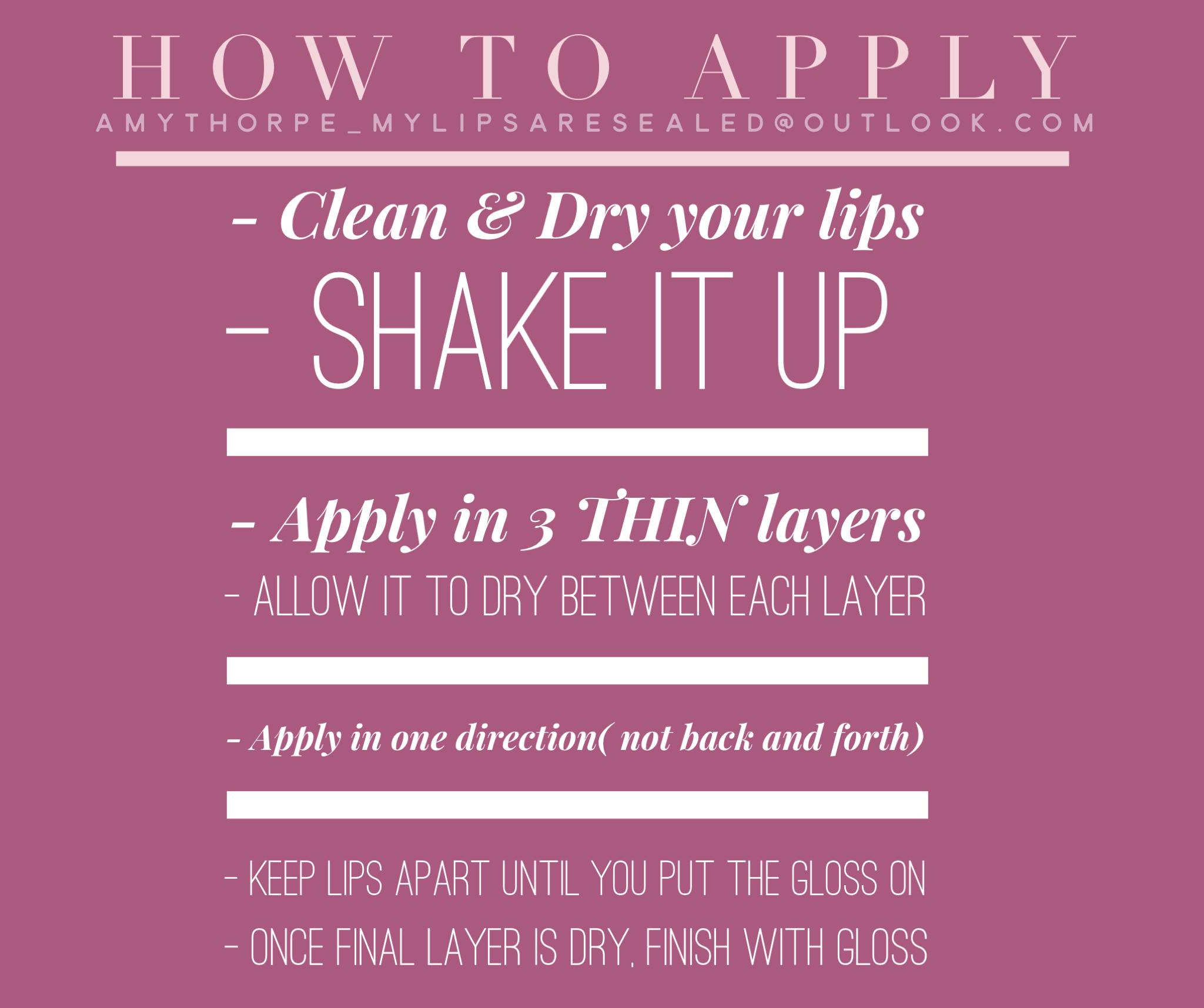 How to apply LipSense! It's a easy but unique process