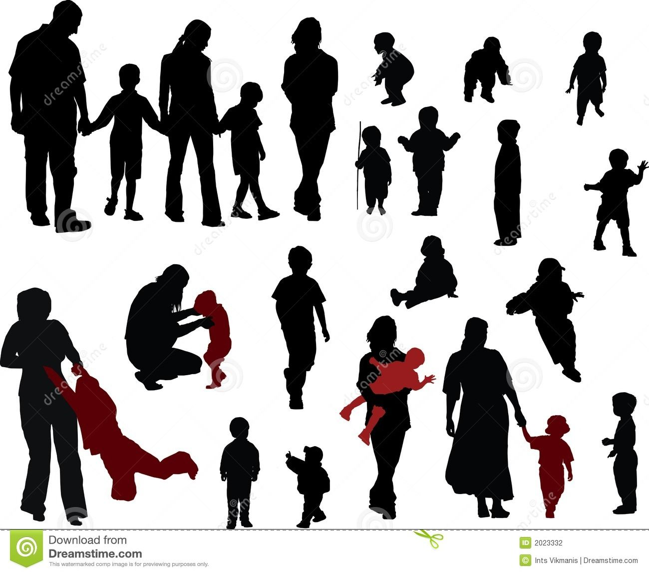 silhouettes Vector silhouettes of Family (mother, father