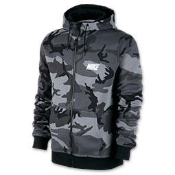 popular brand beauty where to buy Men's Nike Woodland Camo Full-Zip Hoodie   Cool Hoodies ...