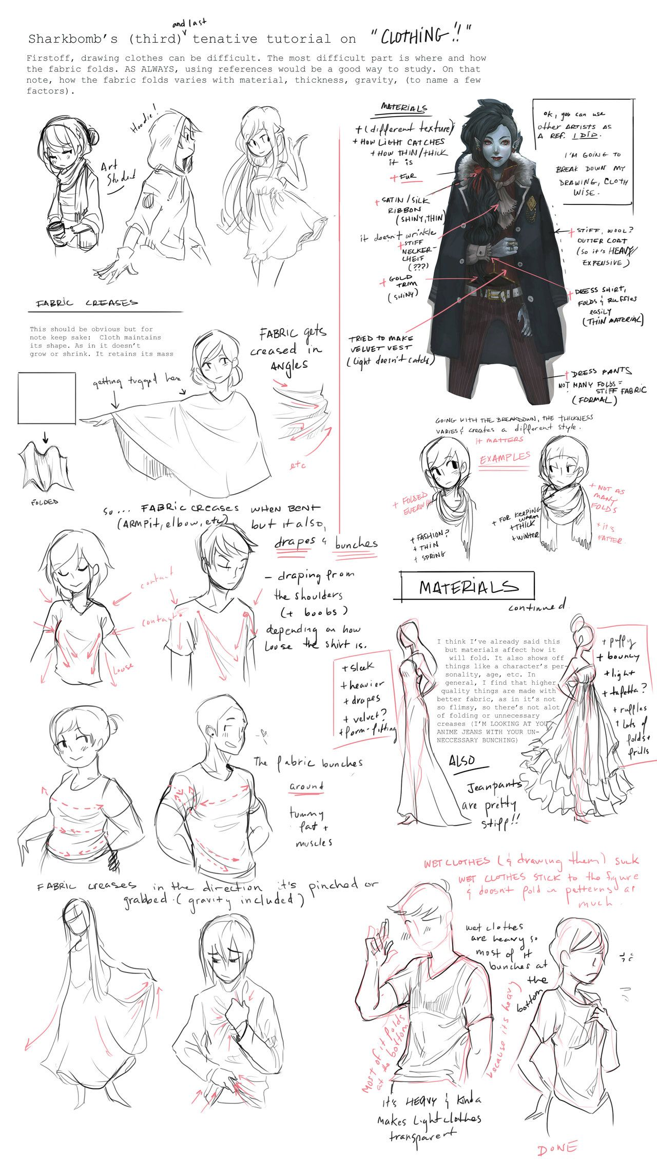 Clothing Tutorial (Notes) by shark-bomb deviantart com on