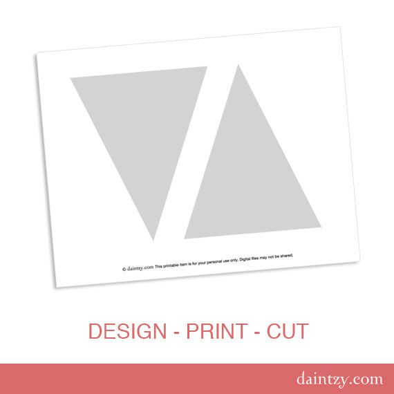 Instant Download Party Printable Template - DIY Triangle Banner