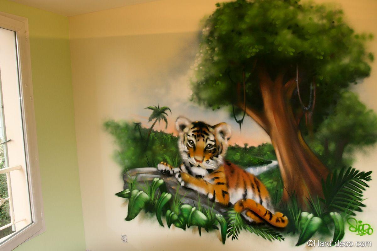 Fresque bébé tigre | Baby room | Pinterest | Bébé tigre, Fresque et Mur