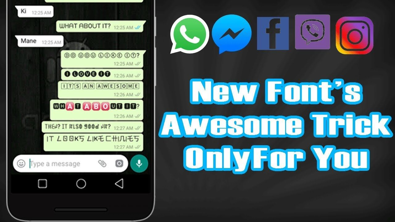 How To Change Font Style In Whatsapp New Awesome Tricks 2019 New Fonts Lettering Writing Styles