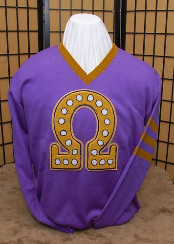Omega Psi Phi V Neck Sweater Greek Wear Omega Psi Phi Omega