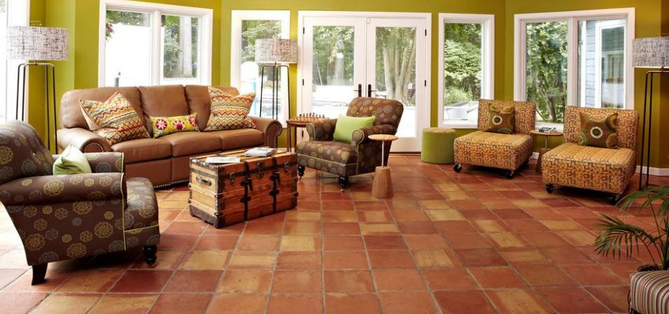 Saltillo Tile Is Ideal For Bedroom Floors And Living Room Floors If You Are Looking For Saltillo Tile Living Room Tiles Glass Table Living Room Tile Bedroom