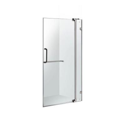 Vigo Pirouette 42 In X 72 In Frameless Pivot Shower Door In