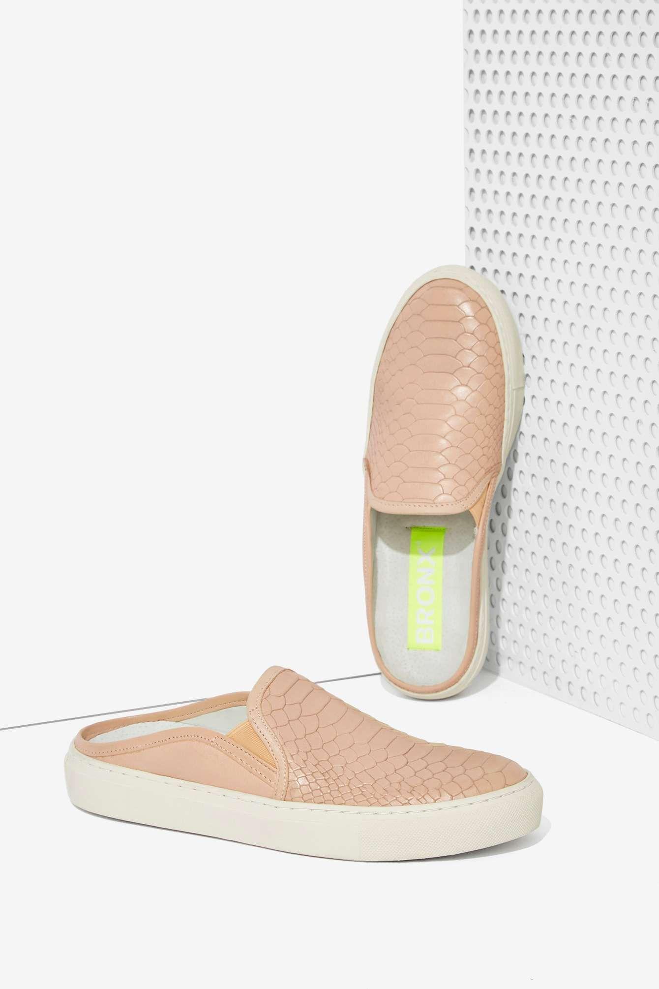 Bronx Kay Kay Leather Slide Sneaker   Sko