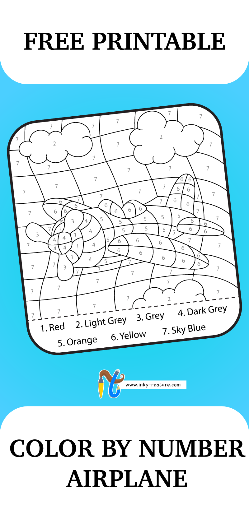This Color By Number Airplane Worksheet will give your child some ...