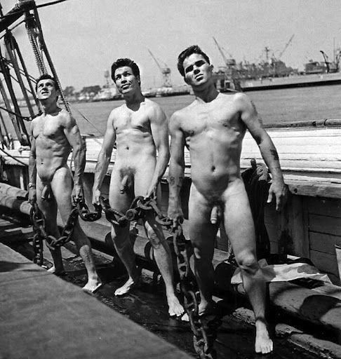 Naked navy men