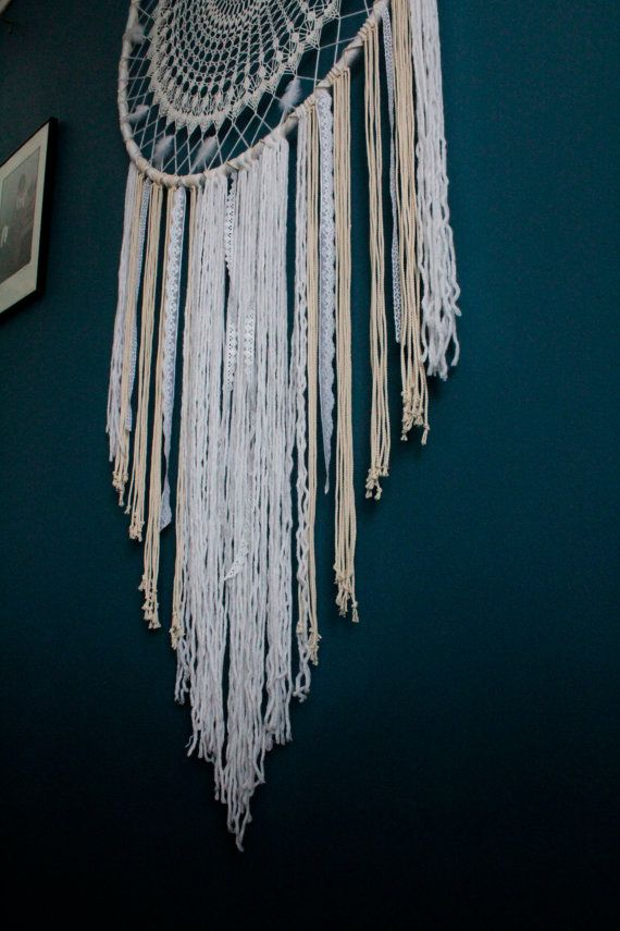 IN STOCK! Large dreamcatcher wall hanging, boho wall, wedding ...