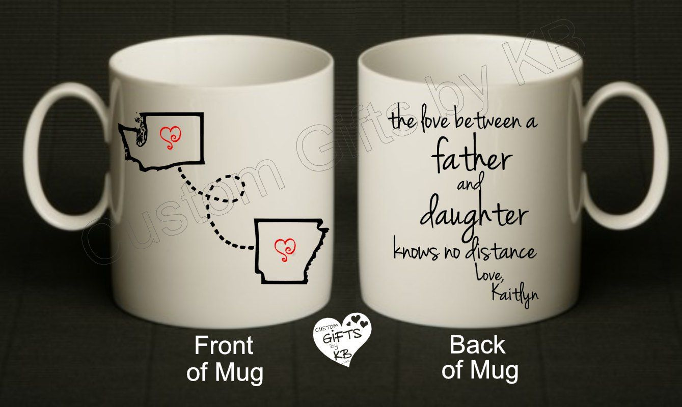 Father and daughter mug father daughter gifts mugs