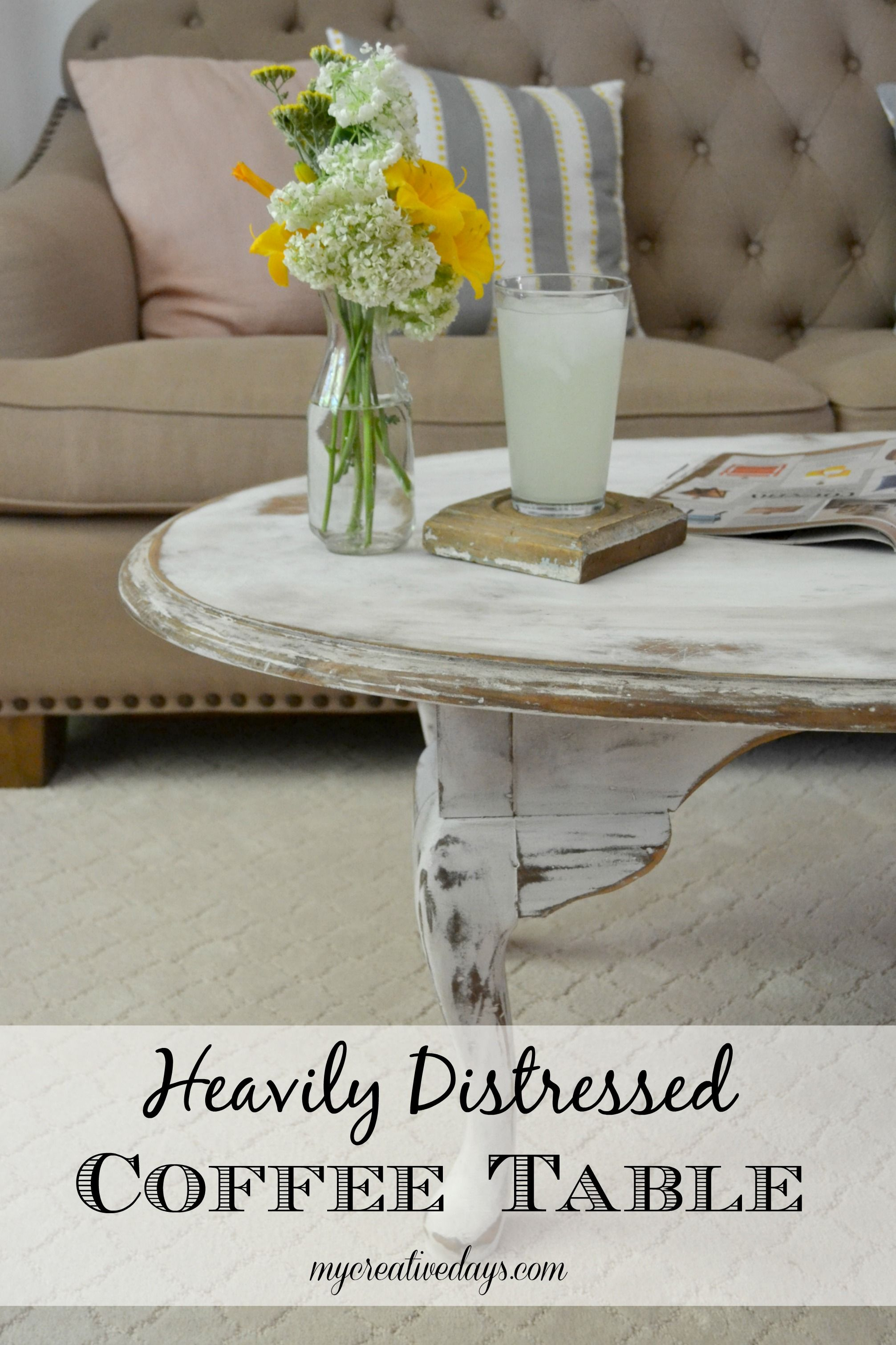 Heavily Distressed Coffee Table
