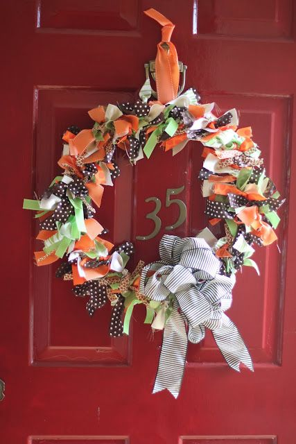 I Love You More Than Carrots: Rag Ribbon DIY Fall Wreath