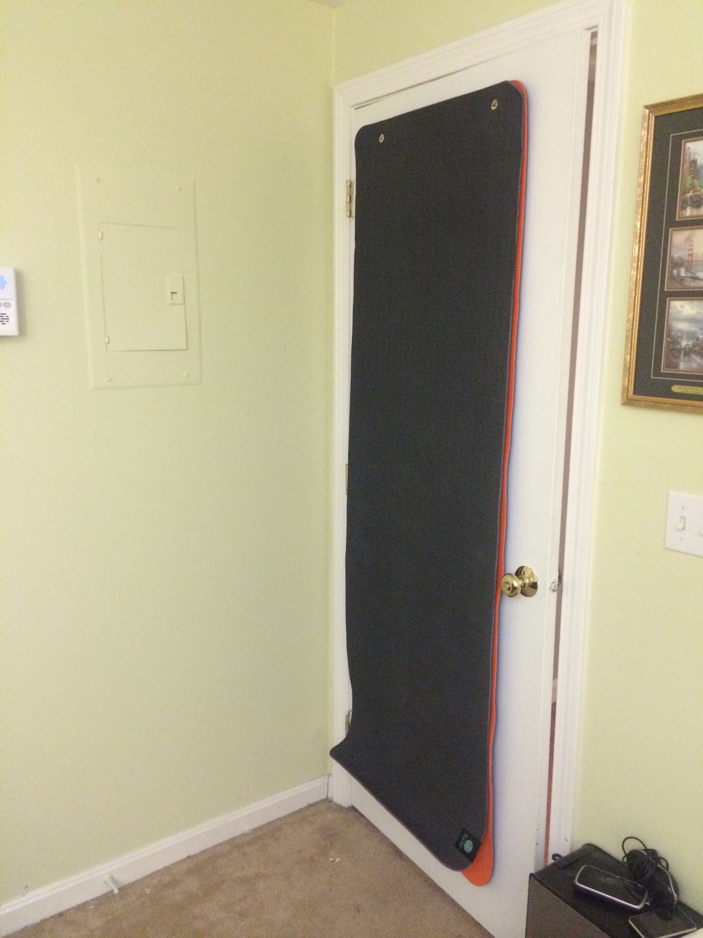 Great Use For A Door Install Grommets In Yoga Mats,