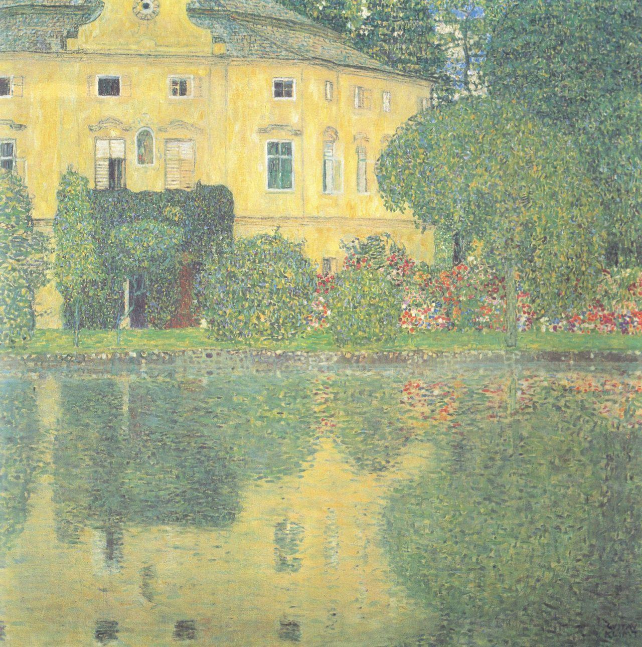 Schloss Kammer On The Attersee Iv 1910 Gustav Klimt Size 110x110 Cm Medium Oil On Canvas Gustav Klimt Klimt Art Klimt