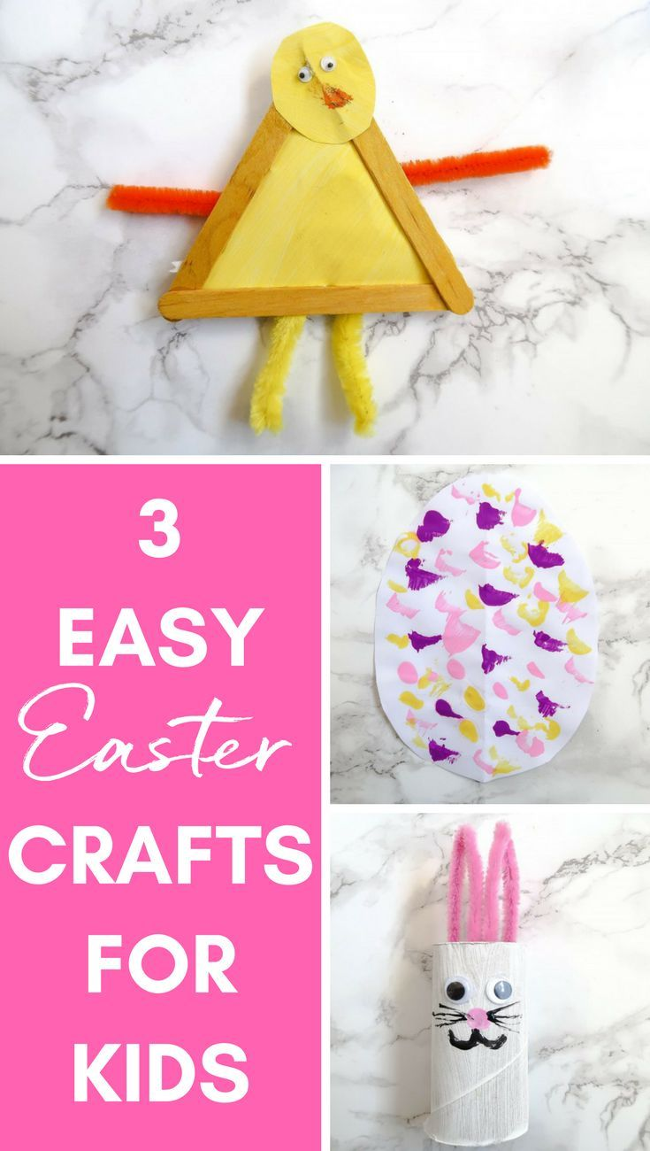 3 EASY KIDS EASTER CRAFTS