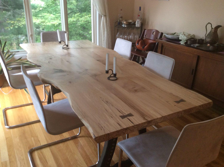 Ul Class Properties Li Class Handmade Item Li Li Class Made To Order Li Ul Live Edge Dining Table Dining Table Maple Dining Table