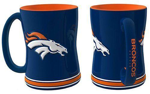 New! Denver Broncos Coffee Mug - 15oz Sculpted (Single Mug) #DenverBroncos