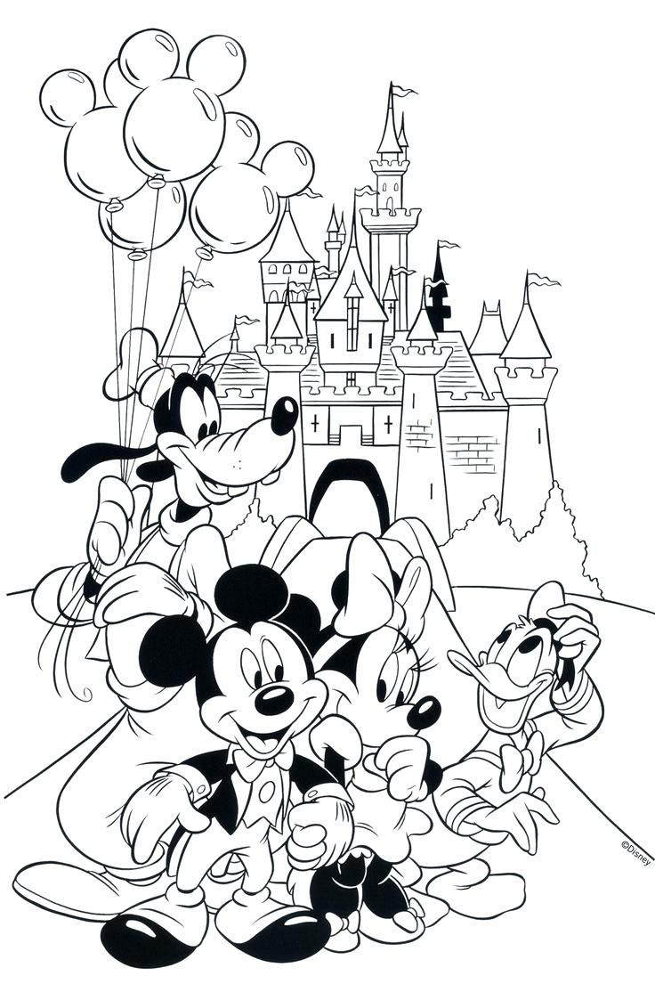 Walt Disney World Coloring Pages  Disney coloring pages, Cartoon