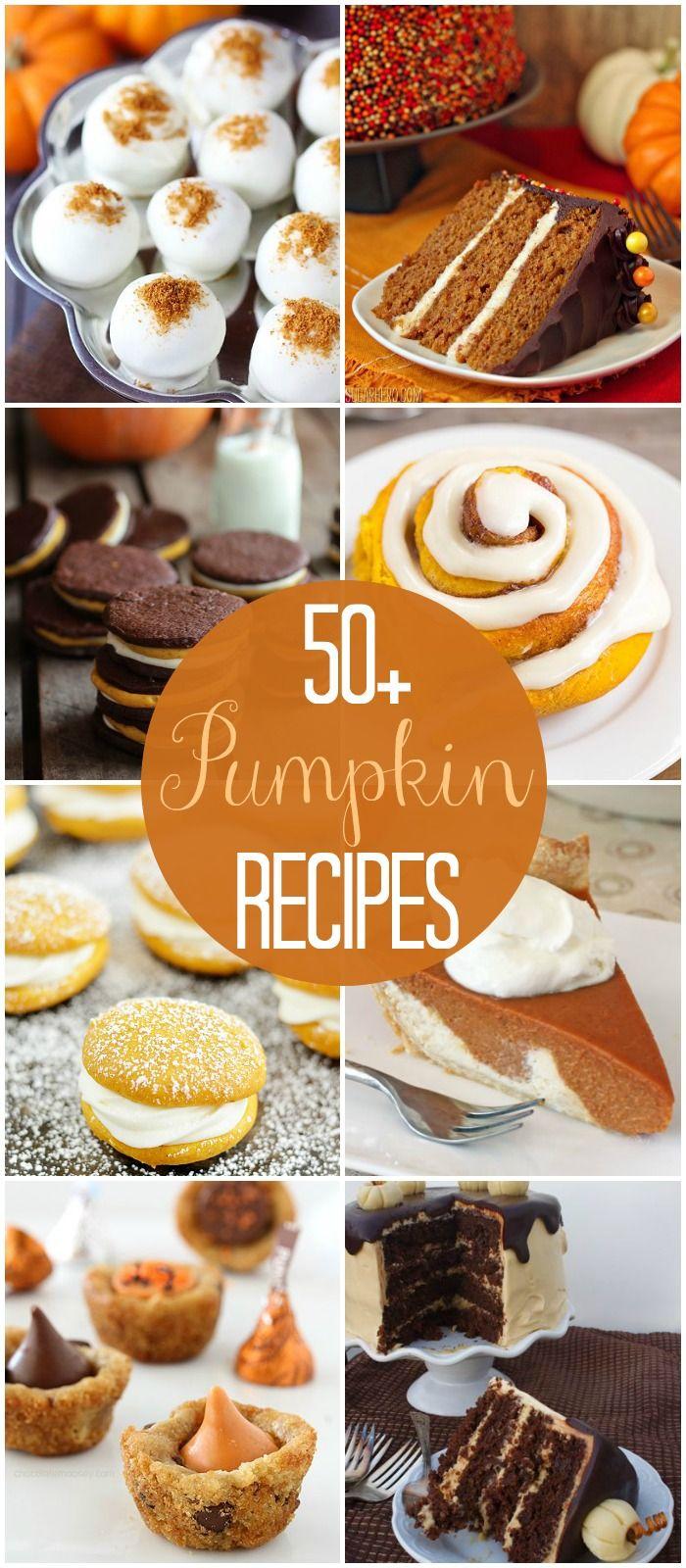 50+ Pumpkin Recipes - a MUST SEE roundup of the best pumpkin recipes!! { lilluna.com }