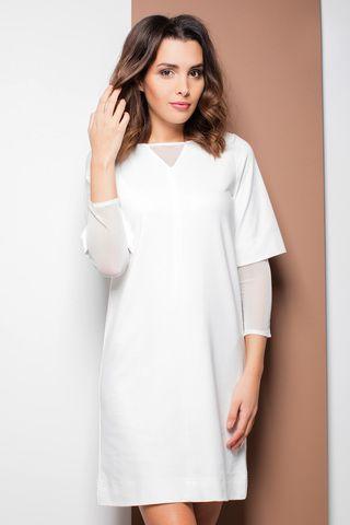белое трикотажное платье K323 Katrus купить в интернет магазине