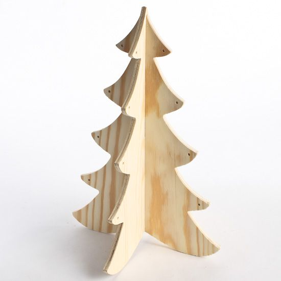 Wood Dimensional Christmas Tree For Crafts Wooden Christmas Trees Wood Christmas Tree Winter Holiday Crafts