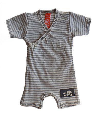 Look at this #zulilyfind! Ivory & Cream Stripe Magic Romper - Infant #zulilyfinds