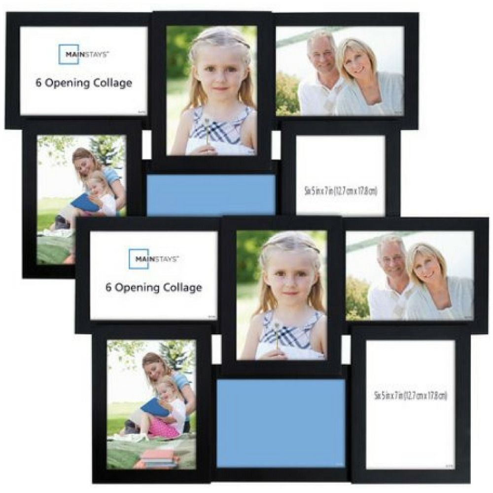 Details About 6 Opening Collage Photo Picture Frame With Glass