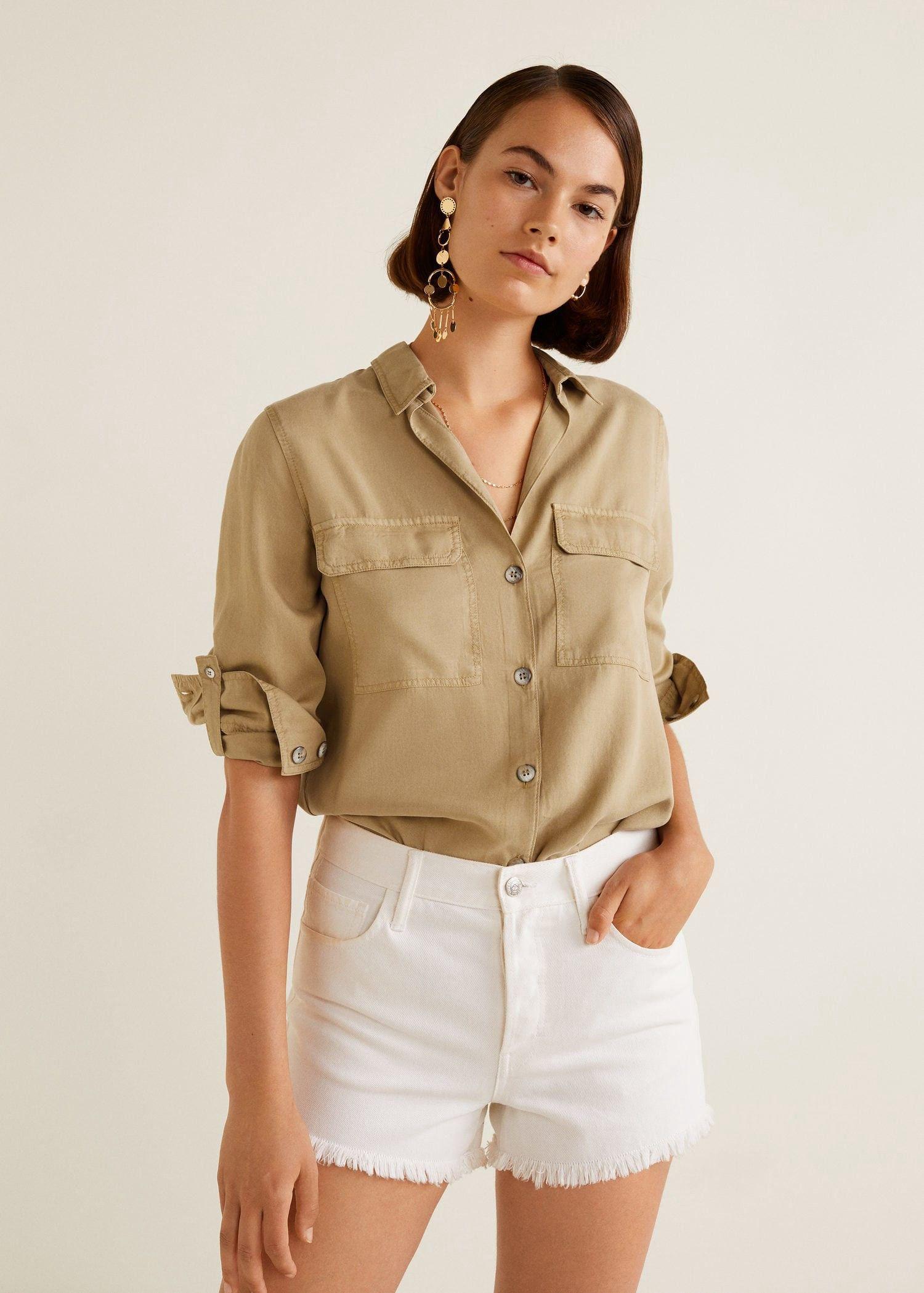 2659a44f4f7214 Mango Chest-Pocket Soft Shirt - 4